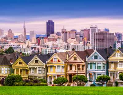 San Francisco's painted ladies, the iconic victorian homes of San Francisco