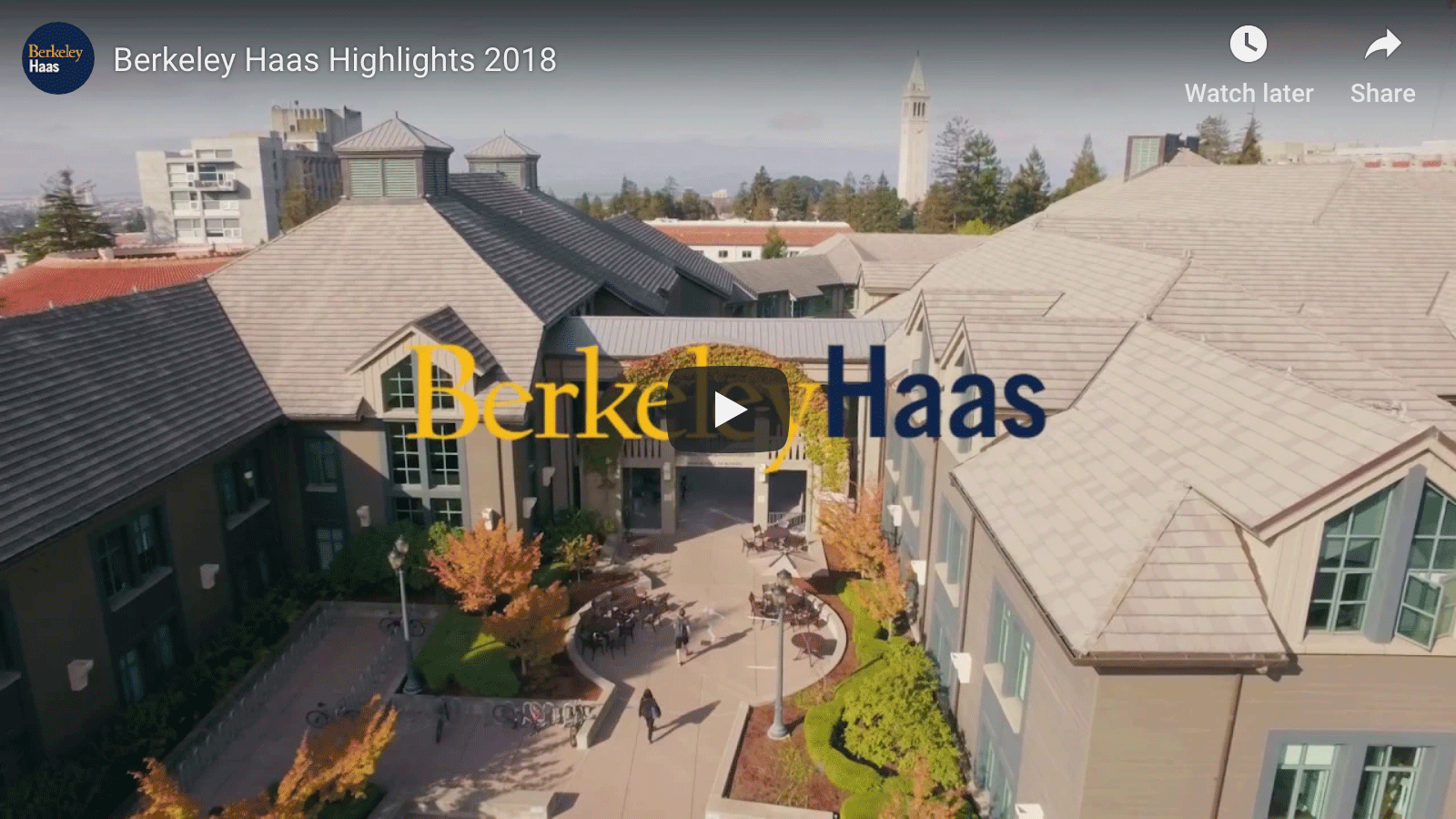 Video of Haas Program at UC Berkeley