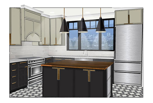 kitchen bath and design. Student Cameron Cox created this project while taking Kitchen and Bath  Design ARCH X414 9 UC Berkeley Extension
